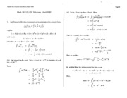 Math 101 Apr 95 Solutions