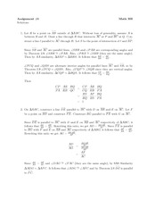 Math 300 Assignment #6 Solutions
