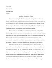 Russian Literature Essay