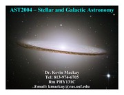 section 3  - Galaxy and cosmology - student