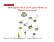 Application of Life Cycle Analysis Concept for SWM