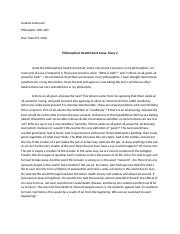 Philosophy Test 2 Essay