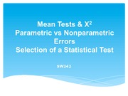 Week 7 Slides Mean Tests Parametrics Test selection module