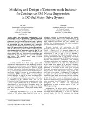 Modeling and Design of Common-mode Inductor