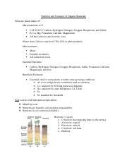 Botany Notes Lecture 10