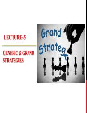 Lecture-5 Long Term Objectives & Strategy 2of2