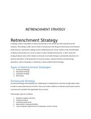 Retrenchment Strategy.docx