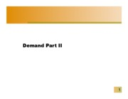 Demand Part II