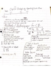 fin 303 capital budgeting notes