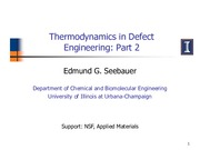 321 Thermodynamics in Defect Engineering Part 2