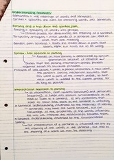 Reading notes - Understanding sentences