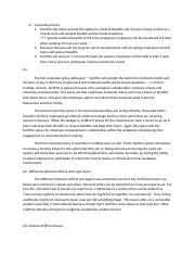 C717 Task 2 docx - 1 Business Ethics Task 2 Organizational Ethics