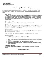 E7-Descriptive Essay Guidelines