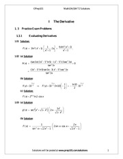 Math 104T2 Booklet Solutions Fall 2013