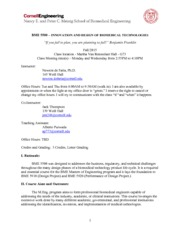 BME 5500 - Course Description and Syllabus - Fall 2015(1)