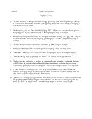 SYST 470 Questions (Mondays) - Chapter 8 (Displays).docx