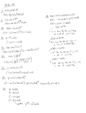 Homework I Solutions on Calculus and Analytic Geometry