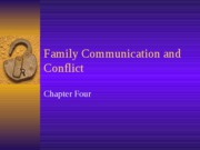 Family Communication and Conflict pt 1 Rev 08