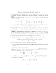 math 230 sample exam 1