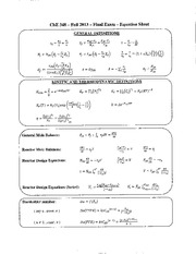 ChE 348 Final Exam F13 Solutions