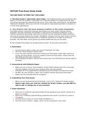 HIST405 Final Exam Study Guide