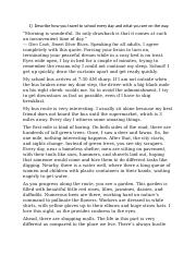 essay describe the people and atmosphere of a busy workplace  2 pages essay 3