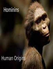 LECTURE 8 Early Hominins_PD