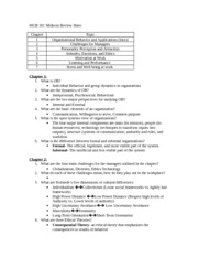 MGB 301 Midterm Review Sheet