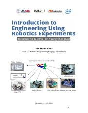 Lab Manual for Build-It Robotics Workshop