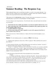 AP Literature 3 of 3 - Response Log .pdf
