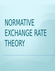 Normative Exchange Rate Theory
