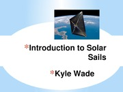 Introduction to Solar Sails