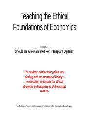 Teaching the Ethical Foundations Ch7