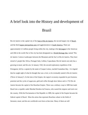 Portuguese  History and development of Brazil