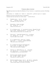 Linguis 100 Intro to Linguistic Science: Cantonese Phase Structure Worksheet