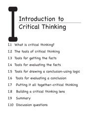 Introduction to Critical Thinking Sample pdf
