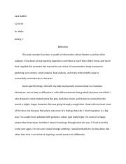 acting 1 reflection paper