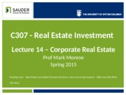 Lec 14 - Case Study - Corporate Real Estate Lease vs Buy