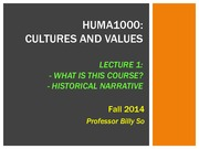 L1 Course+Introduction and Historical Narrative