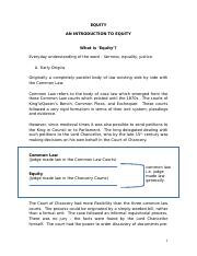 Introduction to Equity Handout.doc
