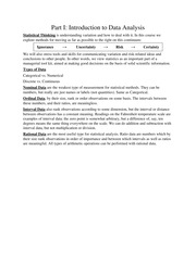 Managerial Statistics Notes 1