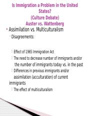 Disagreements - Immigration (Culture Debate) and Post-Race America Debate.pptx
