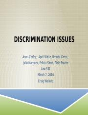 Discrimination Issues Group week 4 march 7th
