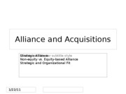 Alliance and Acquisitions ch 12