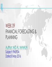 Financial Forecasting - Lecture updated 8 May 2016