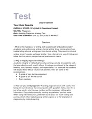plagiarism test copy