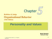 robbins-organization behaviour-chapter 5