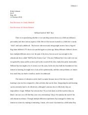 Cause and Effect Essay with comments