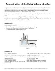 05 Determining the Molar Volume of a Gas.doc