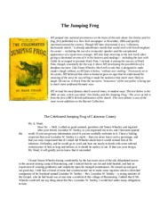 The Celebrated Jumping Frog.docx